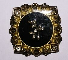 Vintage Catherine Popesco France Enamel and Crystal Brooch BEAUTIFUL!!