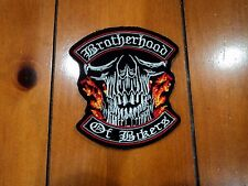 New Brotherhood of Bikers Embroidered Cloth Patch Applique Badge Iron Sew On