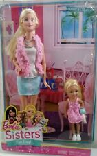 Barbie Sisters Fun Day BARBIE & CHELSEA 2 Dolls CGF34 Age 3+ - NEW !!
