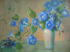 LILA SHELBY, LISTED NY NEW YORK LOUISIANA OLD OIL, FLOWERS FLORAL REALISM MODERN