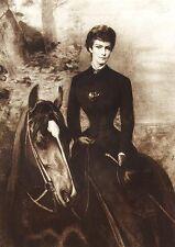 Sisi Sissi Elisabeth Kaiserin von Österreich auf Pferd K&K Monarchie Faksimile24