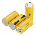 New 4PCS yellow color Rechargeable Battery Sub C SC 1.2V 2200mAh Ni-Cd Batteries