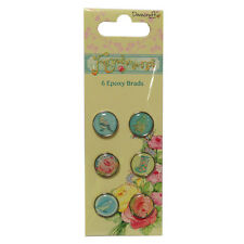 Dovecraft Forget Me Not Epoxy Brads - Cardmaking, Scrapbooking