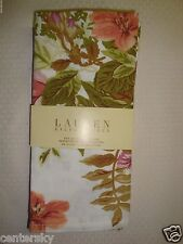 New LAUREN Ralph Lauren Set of 4 Napkins White Brittany Floral