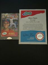 2001 ALBERT PUJOLS E-TOPPS SIGNED AUTO ROOKIE #1865861 W/COA BEAUTIFUL RARE CARD