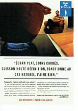 PUBLICITE ADVERTISING 126  1996   Gaz de France   gaz naturel