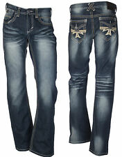 Xtreme Couture by Affliction Geo Flap Dark Denim Jeans SZ 34 NWT MSRP $79