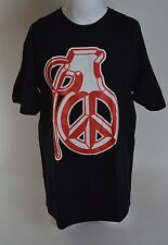 2016 NWOT GRENADE BUZZBOMB T-SHIRT $22 L black cotton screen printed gloves red