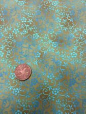 100% Cotton Cushion Quilting Fabric Michael Miller Green Blue Tonal Scroll Work