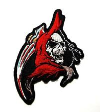 Reaper Flames Blade Knife Blood Rebel Biker Embroidered Patch Iron Sew BSPM0009