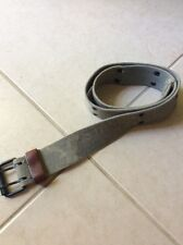 """Used Men's American Eagle Grey Distressed Cotton Wide Belt Size Small Waist 30"""""""
