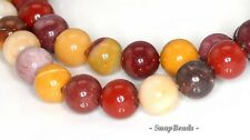 6MM DECADENCE MOOKIATE GEMSTONE GRADE A RED YELLOW ROUND 6MM LOOSE BEADS 15.5""