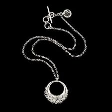 Vintage Designer Sterling Silver Lois Hill Byzantine Filigree Toggle Necklace!