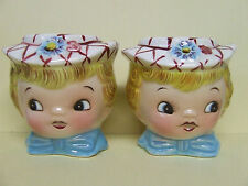 Vintage Lefton Miss Dainty Salt & Pepper Shakers (Japan/#7028)