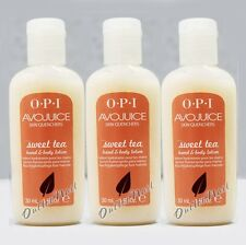 LOT 3 - OPI Avojuice SWEET TEA Skin Quenchers Hand Mini Lotion 30 mL 1 oz