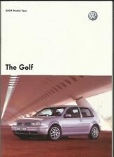 VW VOLKSWAGEN GOLF MATCH, GTI, V5 AND V6 4MOTION SALES BROCHURE 2003  2004