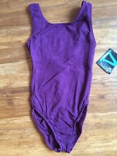NWT Motionwear Plum Ballet Dance Pinched Back Tank Leotard Ladies Small