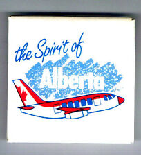 "Spirit of Alberta 2"" Pinback Button Airline Advertising Jet Airplane Air Canada"