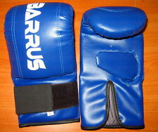 GUANTI SACCO IN PELLE PROFESSIONALI BLUE BOXE KICKBOXING SAVATE KICK MUAY BARRUS