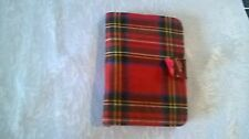 VINTAGE TARTAN  NEEDLE CASE BY ABEL MORRALL'S WITH  LOTS OF NEEDLES