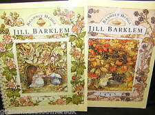 PAIR OF 2 BRAMBLY HEDGE AUTUMN & SUMMER 1995 DUTCH PLANNER BOOKS NEW & UNUSED