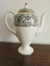 "10"" Coffee Server Wedgwood Black Outline Griffins Dragons Florentine Gold Trim"