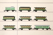 BERLIN RAILWAY PIKO ? TT GAUGE 9 x Passenger Car Dr Look at the Photo (40917)