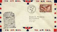 CANADA 1ers vols first flights airmail 101