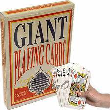Giant Plastic Coated Playing Cards Party Fun Fairs Fetes Game Cards