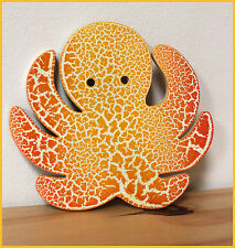 6 coasters 6 sous verres pieuvre octopus NEUF NEW bois
