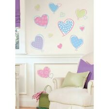 16 New Pink Purple Blue HEARTS WALL DECALS Girls Bedroom Heart Stickers Decor