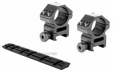 "For Ruger 10/22 Mounting Kit - 1"" Rings Heavy Duty Medium Profile Scope Mount #3"