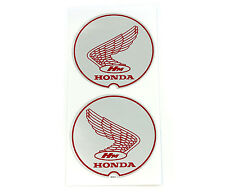 "Honda 1967-1968 P50 ""Little Honda"" Wing Frame Decal Set ✰ Silver Decals ✰ L & R"