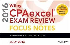Wiley Cpaexcel Exam Review July 2016 Focus Notes: Auditing and Attestation AUD