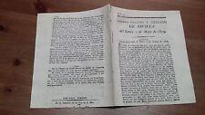 Núm 23 Correo Politico y Literario de Sevilla I de Mayo 1809, Jaen Zafra Badajoz