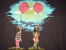 Shirt Woot! - Brown Graphic T Shirt (2XL)  - Made in USA - Balloon Faces