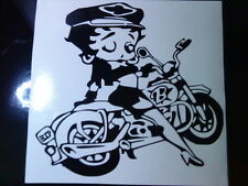 Betty Boop Motorbike Vinyl  decal / biker sexy girls car stickers graphics fun