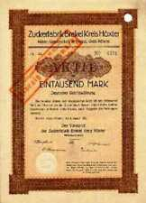 Zuckerfabrik Brakel AG Kreis Höxter histor.  Aktie 1923 Westfalen Zucker Nahrung