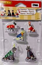 NEW LeMax Christmas Village 5 piece Holiday Dressed DOGS