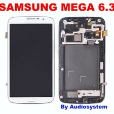 DISPLAY +TOUCH SCREEN +COVER per SAMSUNG GALAXY MEGA 6.3 GT i9205 Vetro BIANCO