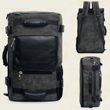 Men Canvas Multifunctional Travel Shoulder Hiking Camping Bag Backpack Rucksack