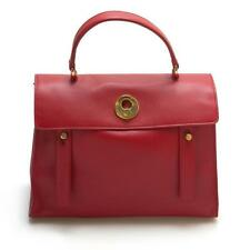 Ysl Saint Laurent Red Medium Muse Two Muse 2 Bag Red Leather Lot 562