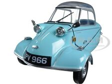 MESSERSCHMITT KR200 BUBBLE CAR LIGHT BLUE 1/18 DIECAST MODEL BY OXFORD 18MBC004