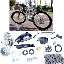 80cc 2-Stroke Upgraded Motor Engine Kit Gas for Motorized Bicycle Bike Silver