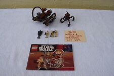 Lego 7670 Star Wars Hailfire Droid & Spider Droid 100% complete Lot 345