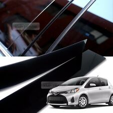 Glossy Black B Pillar Post UV Coating Cover Trim 4P For TOYOTA 2011-2016 Yaris