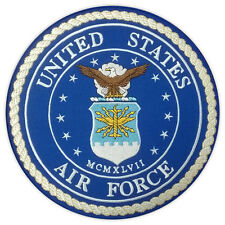 Motorcycle Jacket Embroidered Back Patch - United States Air Force USAF - Vets