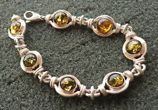 BALTIC GREEN  AMBER  BRACELET WOMEN RARE