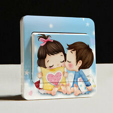 1 Pcs Creative Switch Stickers Fashion Cute Small Kiss Series Wall Stickers D