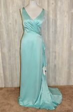 Lot of 4 Belsoie Sea Glass Aqua Bridesmaids Dresses- Original Retail $230.00 ea.